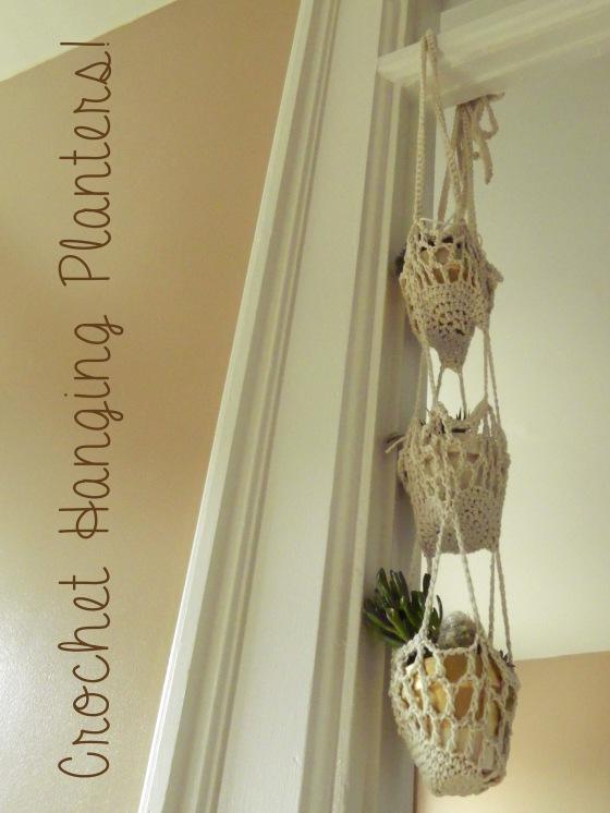 crochet planters