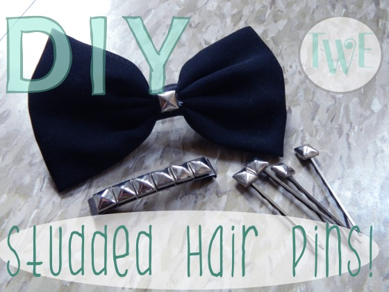 DIY Studded Hair Pins