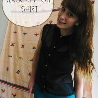 Black Chiffon Shirt Refashion