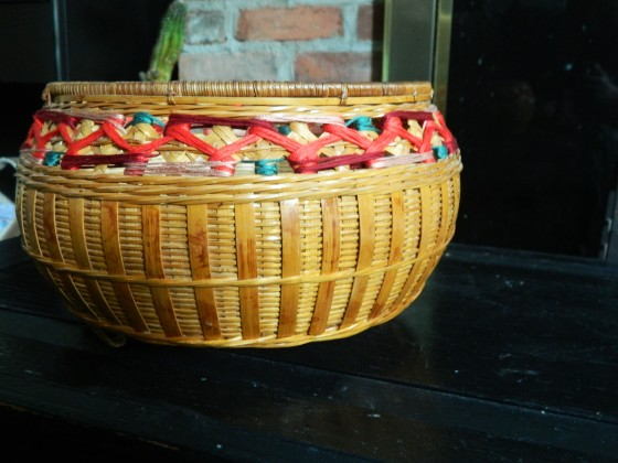 embrodiered basket