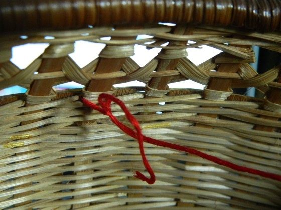 knot basket embrodiery